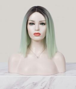 Mint Chip Pastel Mint Shoulder Length Synthetic Lace Front Wig