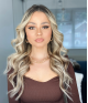 T-486 Sunshine Ombre  Light brown highlighted with Platinum Blonde