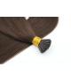"""Keratin I-Tip 18"""" 30g Natural Straight Human Hair Extensions"""