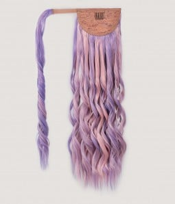 """Lilac 21"""" Beach Wave Wrap around Synthetic Ponytail Extension"""