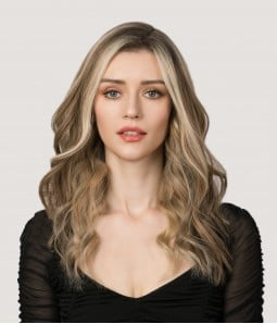 201R - Permafrost Cool Toned Blonde and Natural Gold Blonde Blend shaded with Pale Brown