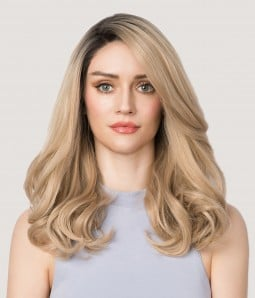 Paisley | Blonde Layered Synthetic Lace Front Wig | Heat-friendly