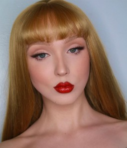 Claudia  Bronde Shoulder Length Synthetic Lace Front Wig with Bangs