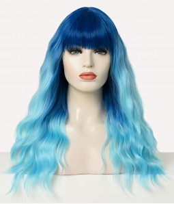 Amphitrite| Blue Ombre  Wavy Synthetic Wig