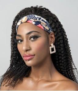 Auxo   Kinky Curly 100% Human Hair Headband Wig