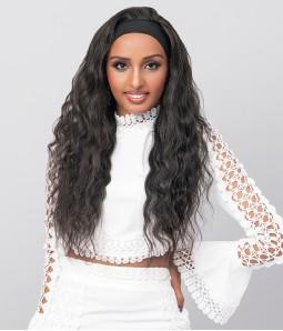 Thallo   Body Wave 100% Human Hair Headband Wig