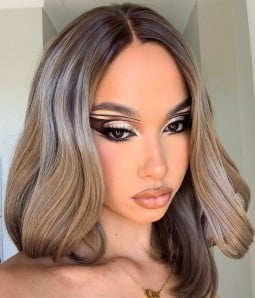 | Ashy Dirty Blonde Layered Synthetic Lace Front Wig