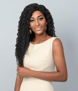 "Urania   Deep Wave 100% Human Hair 13""x4"" Lace Front Wig"