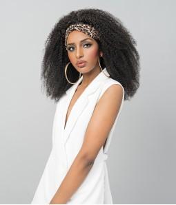 Margo   Afro Curly 100% Human Hair Headband Wig