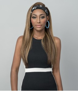 Irena   Honey Blonde Highlight 4-27 100% Human Hair Headband Wig