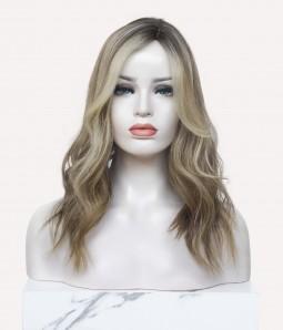 "8.5""x9"" Blake   Silk Part Remy Human Hair Topper   Left Part"