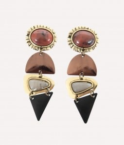 Retro | Spliced Geometric Drop Earrings