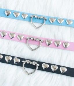Heart | Adjustable Leather Choker
