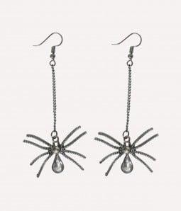 Gothic Spider | Metal Halloween Earrings