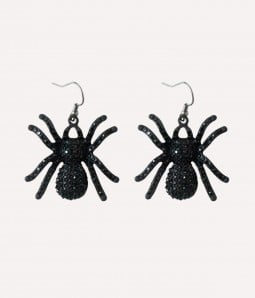 Sparkly Spider |Spooky Cabochons Earrings