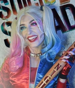 Harley | Blue/ Pink Bunches Long Wavy Synthetic Wig | Harley Quinzel
