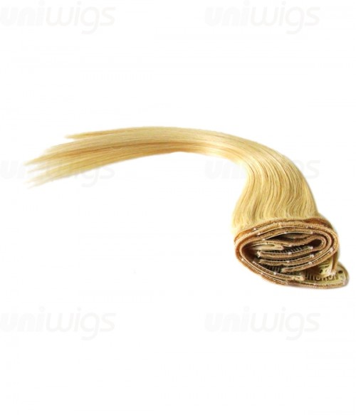 """16"""" 7 Piece Straight Clip In Remy Human Hair Extension E71605"""