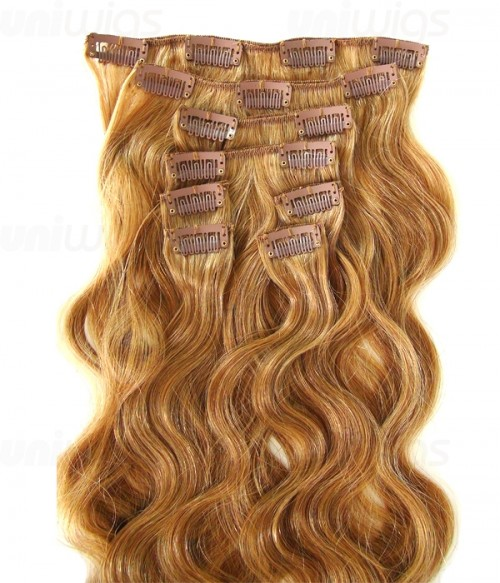 "20"" 8 Pieces Body Wave Clip In Human Hair Extension E82006-H"
