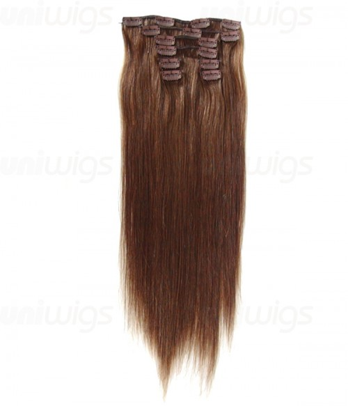 """20"""" 8 Pieces Straight Clip In Human Hair Extension E82005-H"""