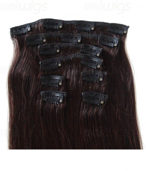 """20"""" 8 Pieces Straight Clip In Human Hair Extension E82003-H"""