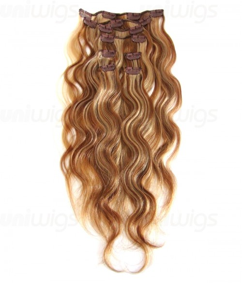 "20"" 8 Piece Body Wave Clip In Remy Human Hair Extension E82005"