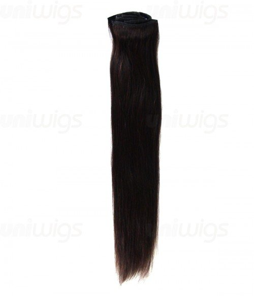 """22"""" 8 Piece Straight Clip In Remy Human Hair Extension E82202"""