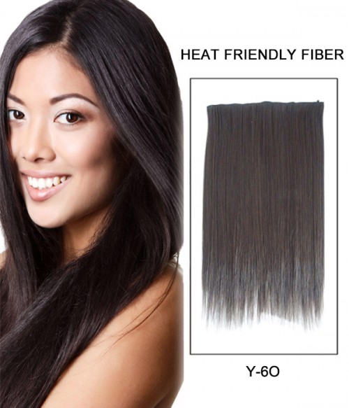 """20"""" Straight Synthetic Flip In Hair Extension E52001-Y-6O"""