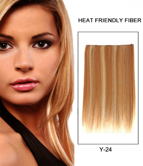 "20"" Straight Synthetic Flip In Hair Extension E52001-Y-24"