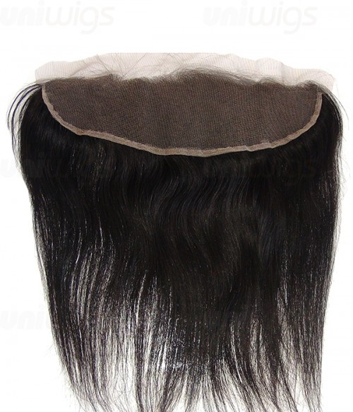 """8-20"""" 13""""x4"""" Natural Straight Free Part/Middle Part/Three Part Brazilian Remy Human Hair Lace Frontal"""