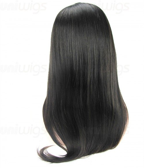 "18"" Top Quality Virgin Remy Human Hair Semi-finished Full Lace Wig"