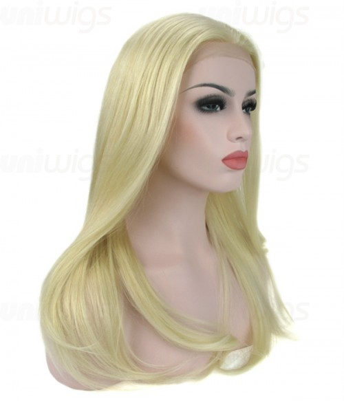 """18"""" Top Quality Virgin Remy Human Hair Semi-finished Full Lace Wig"""