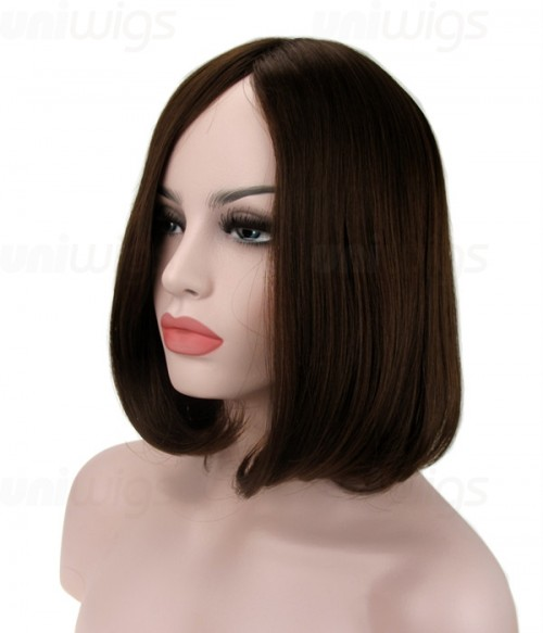 """12"""" Top Quality Virgin Remy Human Hair Injected Skin Top Jewish Wig"""