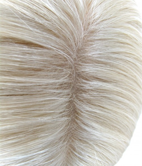 "18"" Top Quality Virgin Remy Human Hair Injected Skin Top Jewish Wig"