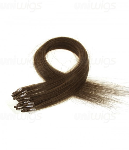 """16"""" 25 pieces Silky Straight Micro-ring Remy Hair Extension"""