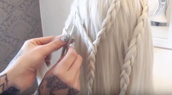 Daenerys Targaryen inspired Braided Hairstyle