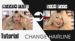 How to change middle part to side part