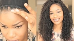 Quick & Easy Tapered Curly Fro Look On A Lacewig
